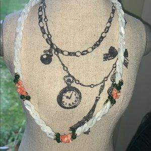 Vintage rice pearl beaded necklace